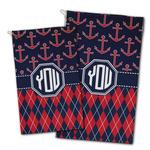 Anchors & Argyle Golf Towel - Full Print w/ Monogram
