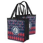 Anchors & Argyle Grocery Bag (Personalized)