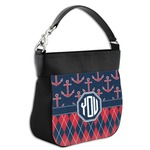 Anchors & Argyle Hobo Purse w/ Genuine Leather Trim (Personalized)