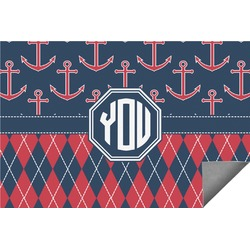 Anchors & Argyle Indoor / Outdoor Rug (Personalized)