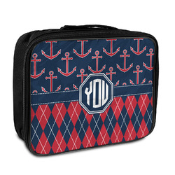 Anchors & Argyle Insulated Lunch Bag (Personalized)