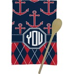 Anchors & Argyle Kitchen Towel - Full Print (Personalized)
