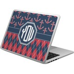 Anchors & Argyle Laptop Skin - Custom Sized (Personalized)