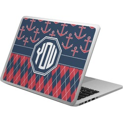 Anchors & Argyle Laptop Skin - Custom Sized (Personalized)