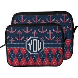 Anchors & Argyle Laptop Sleeve / Case (Personalized)
