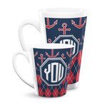 Anchors & Argyle Latte Mug (Personalized)