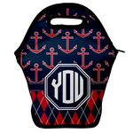 Anchors & Argyle Lunch Bag (Personalized)