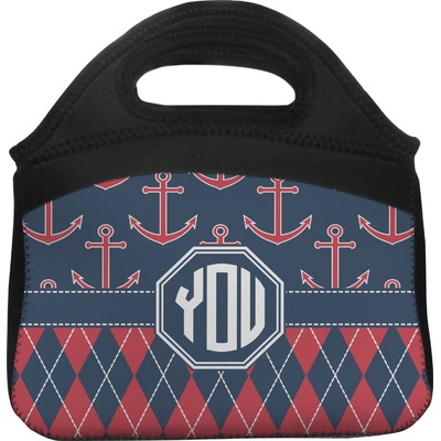 Anchors & Argyle Lunch Tote (Personalized)