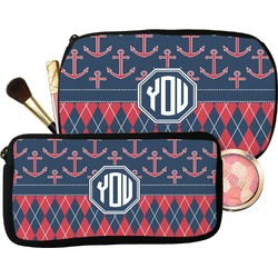 Anchors & Argyle Makeup / Cosmetic Bag (Personalized)