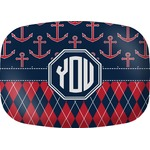 Anchors & Argyle Melamine Platter (Personalized)