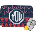 Anchors & Argyle Memory Foam Bath Mat (Personalized)