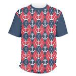 Anchors & Argyle Men's Crew T-Shirt (Personalized)