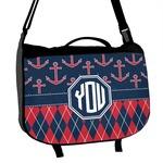 Anchors & Argyle Messenger Bag (Personalized)