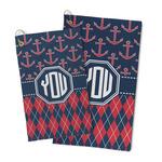 Anchors & Argyle Microfiber Golf Towel (Personalized)