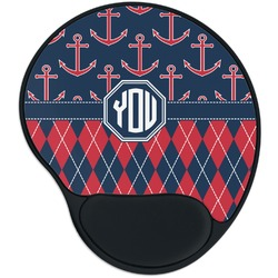 Anchors & Argyle Mouse Pad with Wrist Support