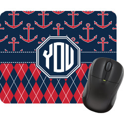 Anchors & Argyle Mouse Pad (Personalized)