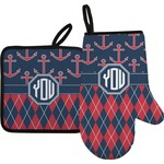 Anchors & Argyle Oven Mitt & Pot Holder (Personalized)