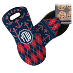 Anchors & Argyle Neoprene Oven Mitt (Personalized)