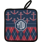 Anchors & Argyle Pot Holder (Personalized)