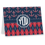 Anchors & Argyle Notecards (Personalized)