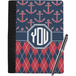 Anchors & Argyle Notebook Padfolio (Personalized)