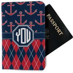 Anchors & Argyle Passport Holder - Fabric (Personalized)
