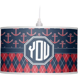 Anchors & Argyle Drum Pendant Lamp (Personalized)