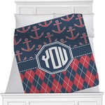 Anchors & Argyle Blanket (Personalized)