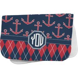 Anchors & Argyle Burp Cloth (Personalized)