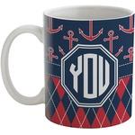 Anchors & Argyle Coffee Mug (Personalized)