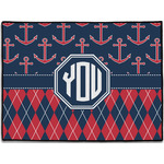 Anchors & Argyle Door Mat (Personalized)