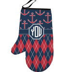 Anchors & Argyle Left Oven Mitt (Personalized)
