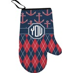 Anchors & Argyle Right Oven Mitt (Personalized)