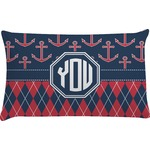 Anchors & Argyle Pillow Case (Personalized)
