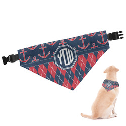 Anchors & Argyle Dog Bandana (Personalized)