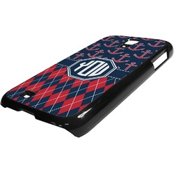 Anchors & Argyle Plastic Samsung Galaxy 4 Phone Case (Personalized)