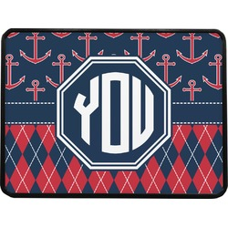 """Anchors & Argyle Rectangular Trailer Hitch Cover - 1.25"""" (Personalized)"""