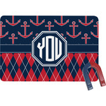Anchors & Argyle Rectangular Fridge Magnet (Personalized)