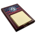 Anchors & Argyle Red Mahogany Sticky Note Holder (Personalized)