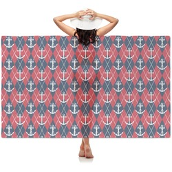 Anchors & Argyle Sheer Sarong (Personalized)