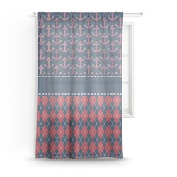 Anchors & Argyle Sheer Curtains (Personalized)