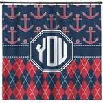 Anchors & Argyle Shower Curtain (Personalized)
