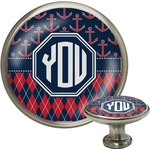 Anchors & Argyle Cabinet Knob (Silver) (Personalized)