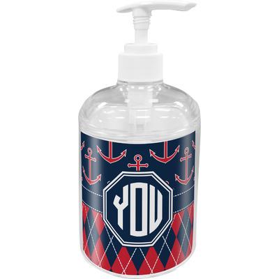 Anchors & Argyle Acrylic Soap & Lotion Bottle (Personalized)
