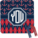 Anchors & Argyle Square Fridge Magnet (Personalized)