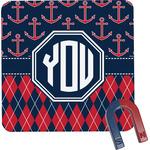 Anchors & Argyle Square Fridge Magnet (Personalized)