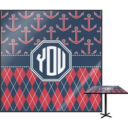 Anchors & Argyle Square Table Top (Personalized)