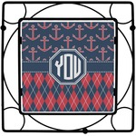 Anchors & Argyle Square Trivet (Personalized)