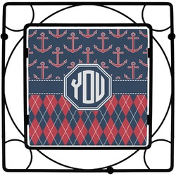 Anchors & Argyle Square Trivet (Personalized)