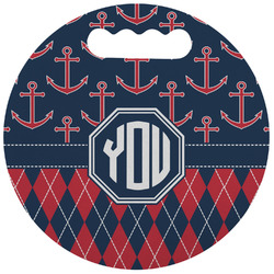 Anchors & Argyle Stadium Cushion (Round) (Personalized)